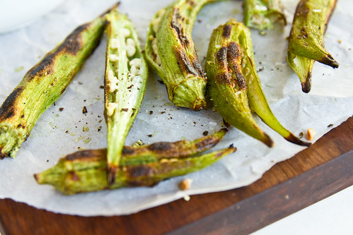 Grilled Okra | by TheBrewer&TheBaker