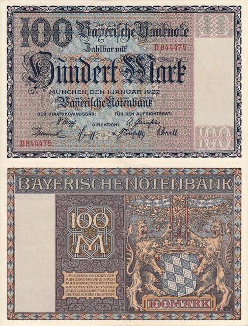 100 Mariek Bavorsko (Nemeck0) 1922