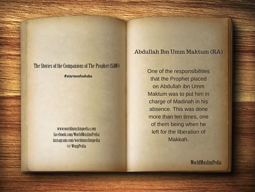 Abdullah Ibn Umm Maktum (RA)