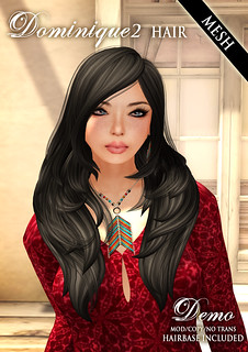 New Dominique2 Mesh Hair! | by Wasabi // Hair Store