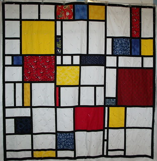 Mondrian Dream WIP front | by I Plead Quilty