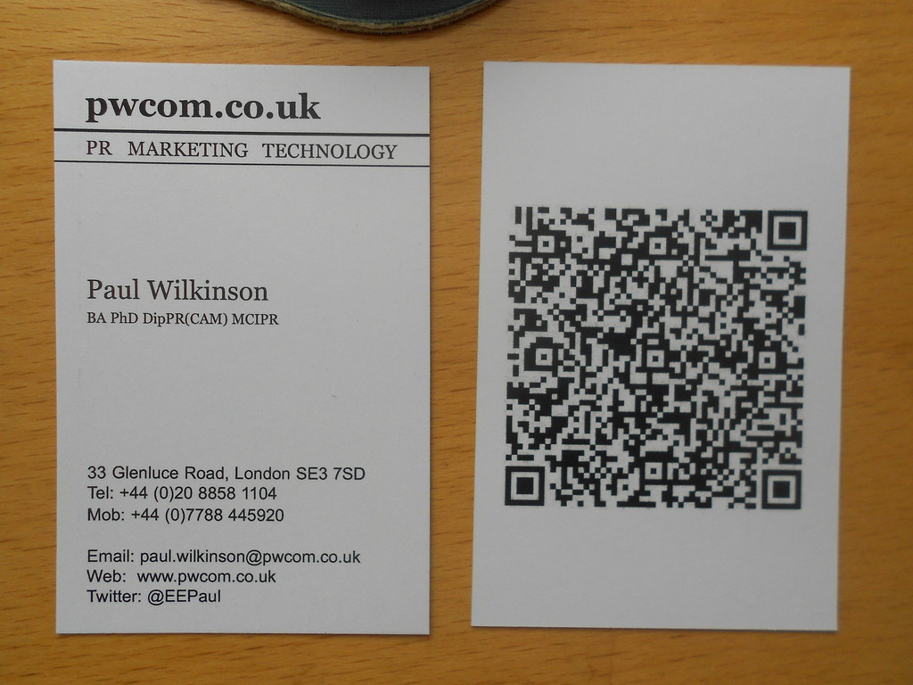 Business card with QR code | Business card with QR code. Pri… | Flickr