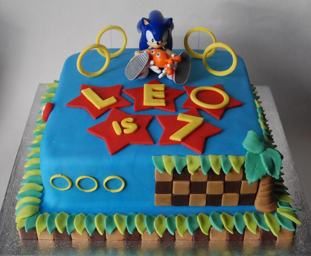 Sonic Birthday Cake Lorraine Mccarroll Flickr