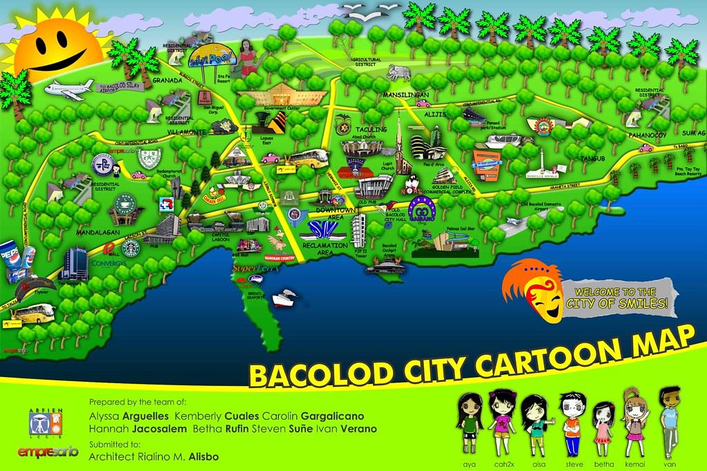 Bacolod City Cartoon Map Cartoon Map Of Bacolod City Layou Flickr - Bacolod map