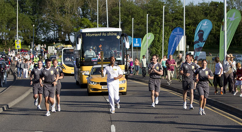 May 2012 - the Olympic torch comes to Swansea University | by Swansea University