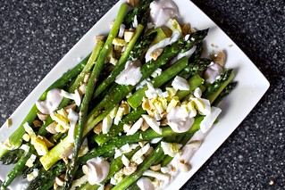 roasted asparagus with smoky yogurt | by smitten kitchen