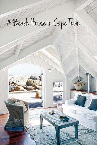 a beach bungalow in cape town, south africa | by the style files