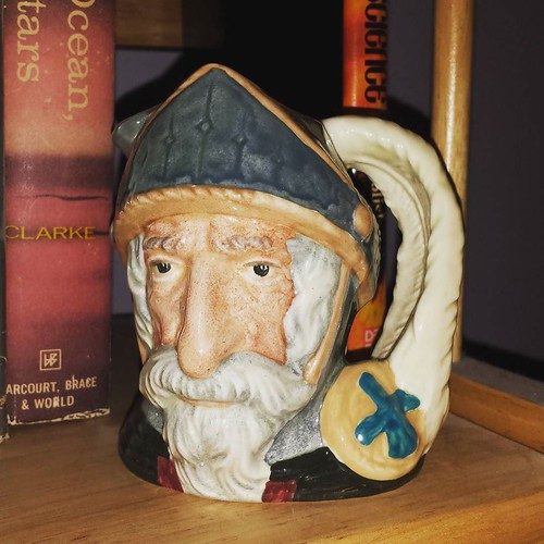 Toby mug I: Don Quixote. My wife makes fun of them, but I love these things. #antiquing