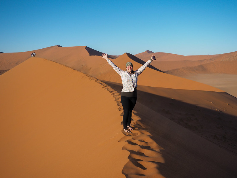 Amanda on Dune 45 in Namibia