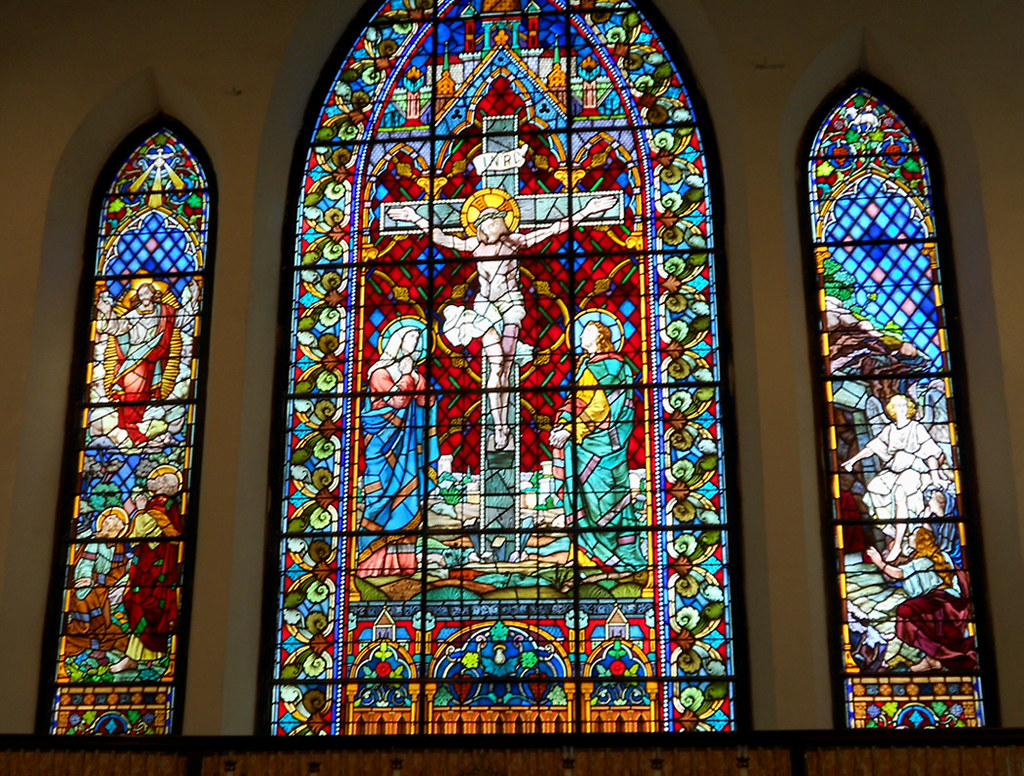 Nassau Stained Glass Window In Christ Church Cathedral Flickr