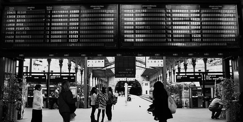 hoping he arrives on the next train (L) | by Ana Carvalhais