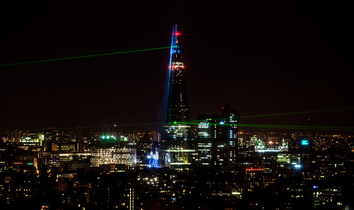 Shard launch lights | by paul_clarke