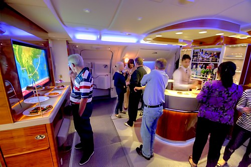 Emirates A380 Business Class bar area | by Uros P.hotography