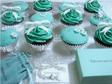 Cupcakes Luxo Em Azul Tiffany Mileidiflor Flickr
