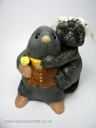 Mole and Marmoset Cake Topper | by Quernus Crafts