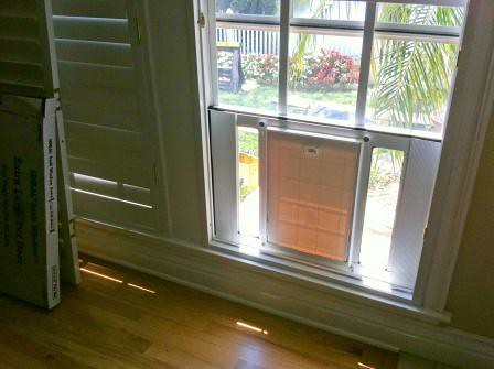 Bon ... HandymanMattersClearwater Window Doggie Door From Inside | By  HandymanMattersClearwater