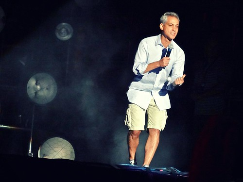 Chicago Mayor Rahm Emanuel introducing The Black Keys | by Joshua Mellin