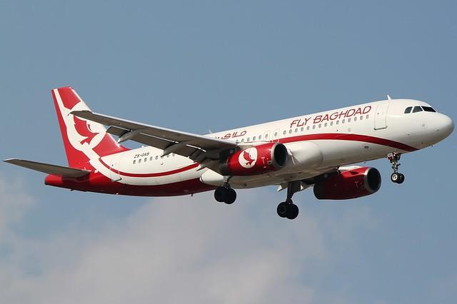 A.320-231 C.n 076 'ZS-GAS' Fly Baghdad