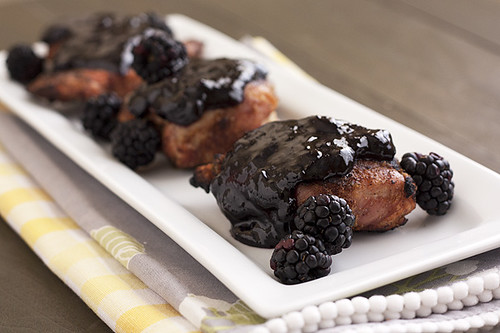 Five Spice Chicken Thighs with Blackberry Glaze | by handleheat