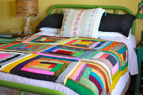 Log Cabin Scrap Blanket | by Yarny Old Kim