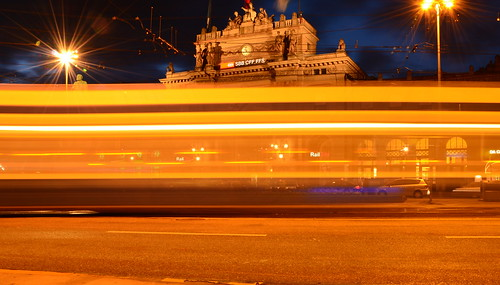 Tramlights in front of Zurich Mainstation | by TJRzurich