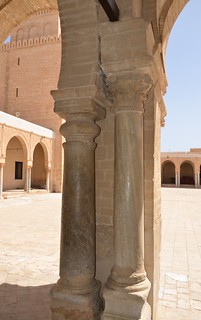 Kairouan, Great Mosque, antique columns used in western courtyard gallery | by Prof. Mortel