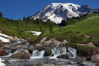 Mount Rainier at Edith Creek, Paradise | by Bob Noble Photography