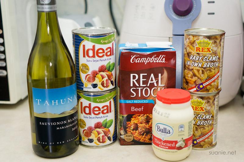 Recipe Lance Clam Chowder - ingredients