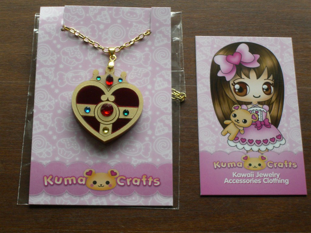 81f7c2050ab ... Sailor Moon Cosmic Heart Brooch pendant necklace by Kuma Crafts | by  usagichan2007