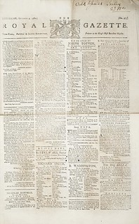 Royal Gazette, New York (October 4, 1780) | by Toronto Public Library Special Collections