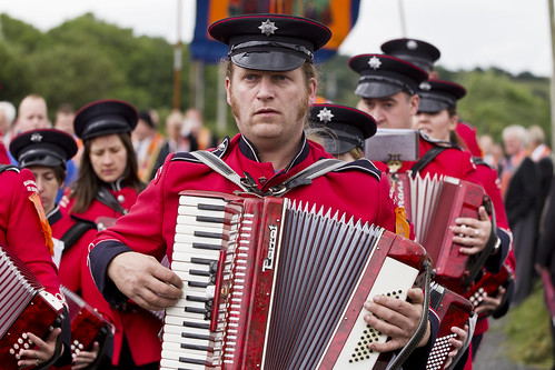 Accordion band at Rossnowlagh Orange parade | by Frank Fullard