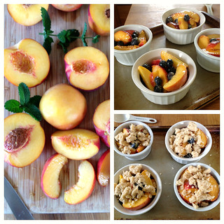 Peach and Blueberry Crumbles | by Tracey's Culinary Adventures