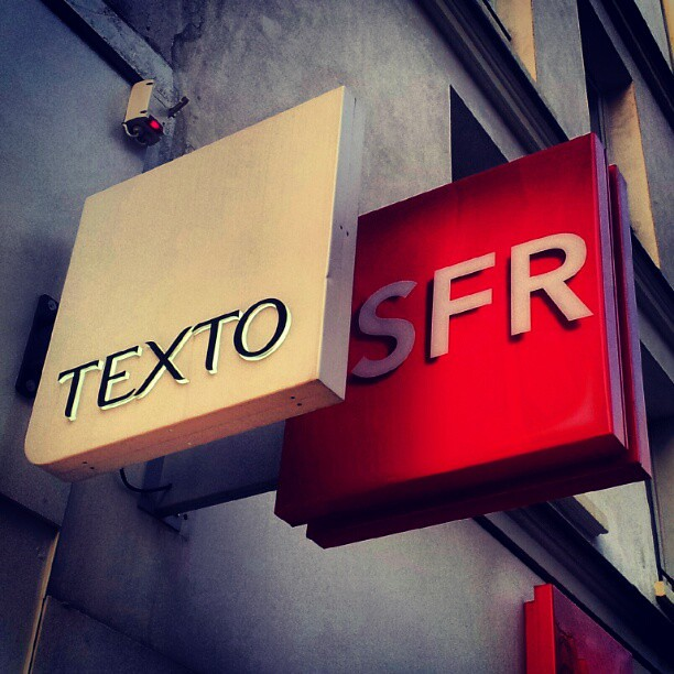 Texto, SFR