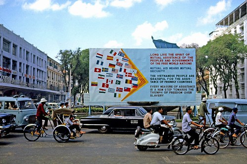 SAIGON 1965 - Flags recognizing countries assisting in the Viet Nam war - Photo by Thomas W. Johnson | by manhhai