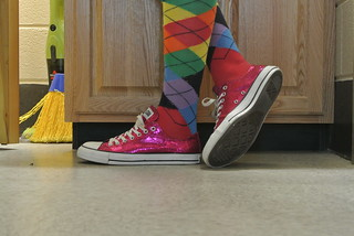 Rainbow argyle socks. | by Elric N