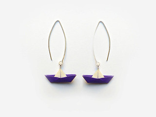 Origami Boat Earrings | by all things paper