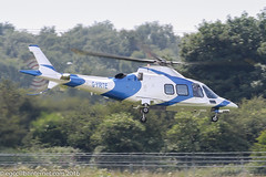 G-YRTE - 2009 build Agusta A109S Grand, departing from City Heliport at Barton