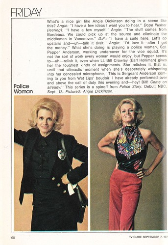 1974 TV Guide Fall Preview - Police Woman | by Paxton Holley