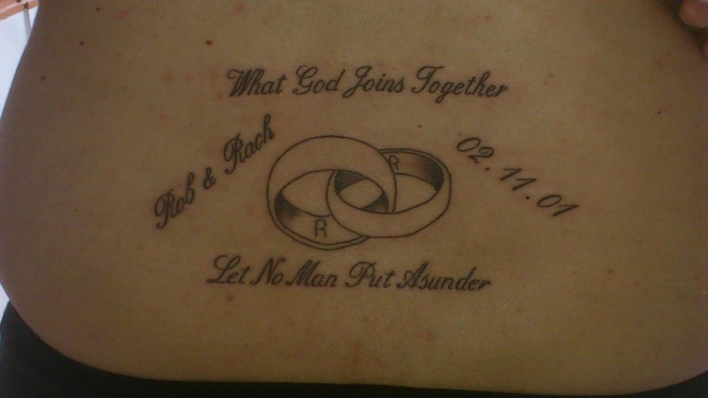 My Tattoo To Mark My Tenth Wedding Anniversary Rachel Hobson Flickr
