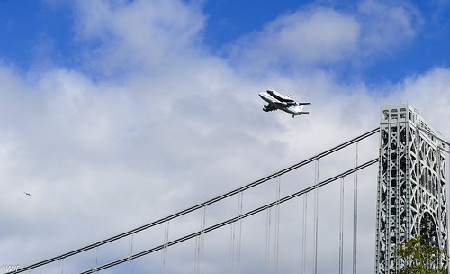 Shuttle Enterprise & T38 Over GWB Southbound | by Wallace Flores