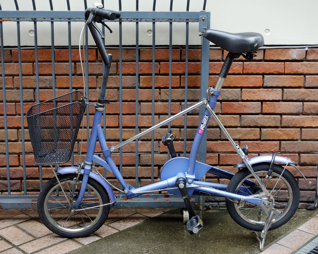 Motomachi Purple One Touch Picnica Folding Bicycle Flickr