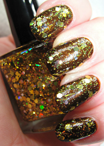 SUNBURST (1 coat over Orly's Buried Alive) | by kristinized