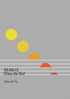 Clau de Sol Poster | Music at dawn Festival | by Quim Marin