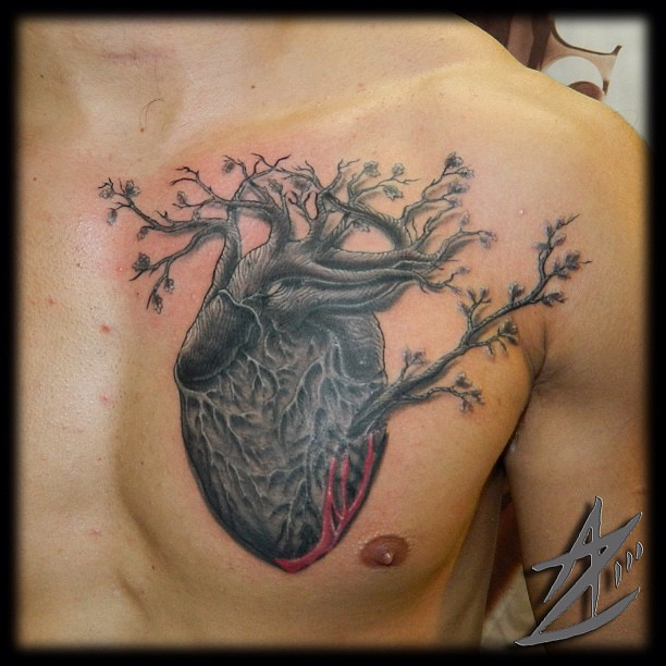 Oak tree heart on chest azolina4 reddragontattoo tree flickr oak tree heart on chest azolina4 reddragontattoo tree heart tattoo gumiabroncs Choice Image
