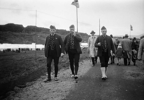 Three men from the Faeroe Islands, Thingvellir, Iceland | by Swedish National Heritage Board
