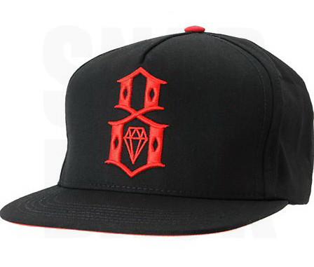 ... REBEL8 Snapback Hat Cap - Black  Red  04e7cc7ad5c