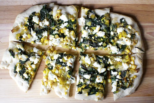leek, corn and chard flatbread | by smitten kitchen