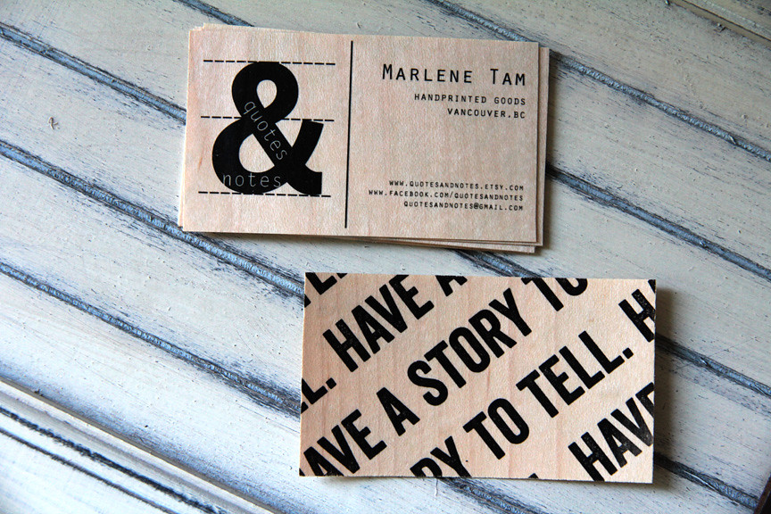 wood business cards | Double-sided wood veneer business card… | Flickr