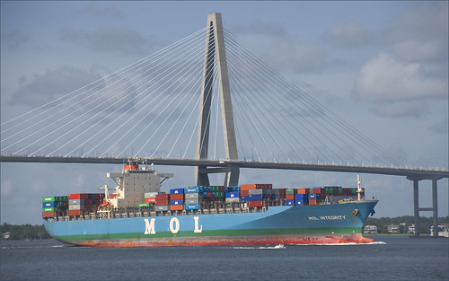 'MOL Integrity' -- Charleston (SC) Harbor July 2012 | by Ron Cogswell