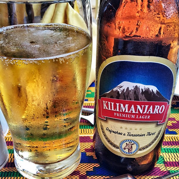 Felt obliged to try the local beer #beer #kilimanjaro #tanzania #arusha
